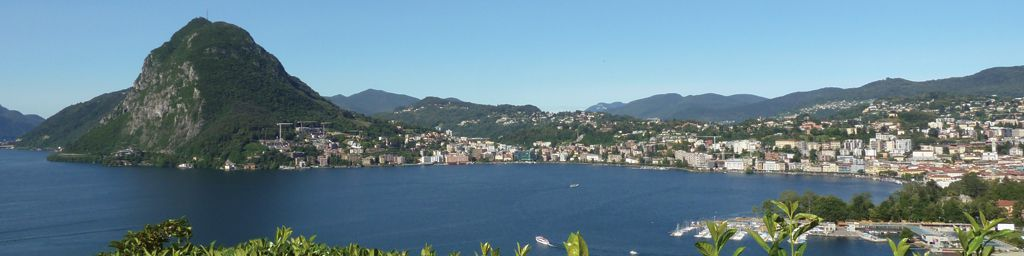 Lake of Lugano from Parco San Michele in Castagnola
